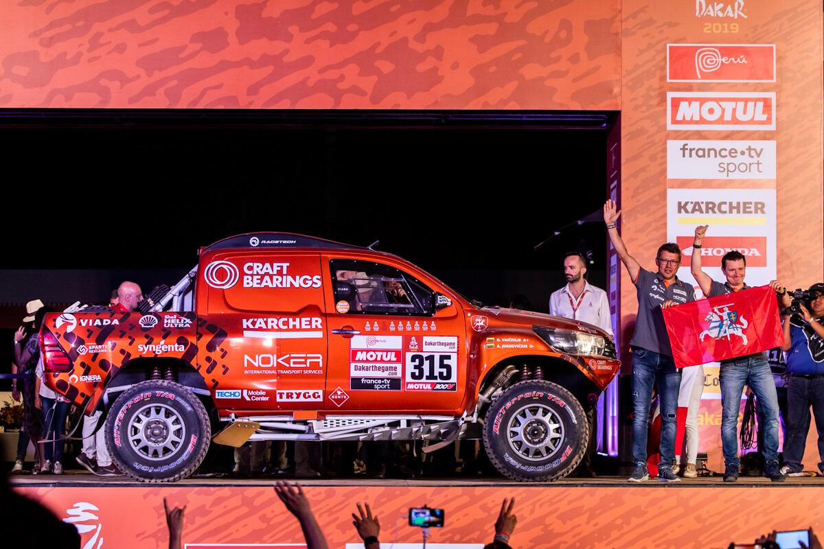 Dakaro ralio 2019 podiumas
