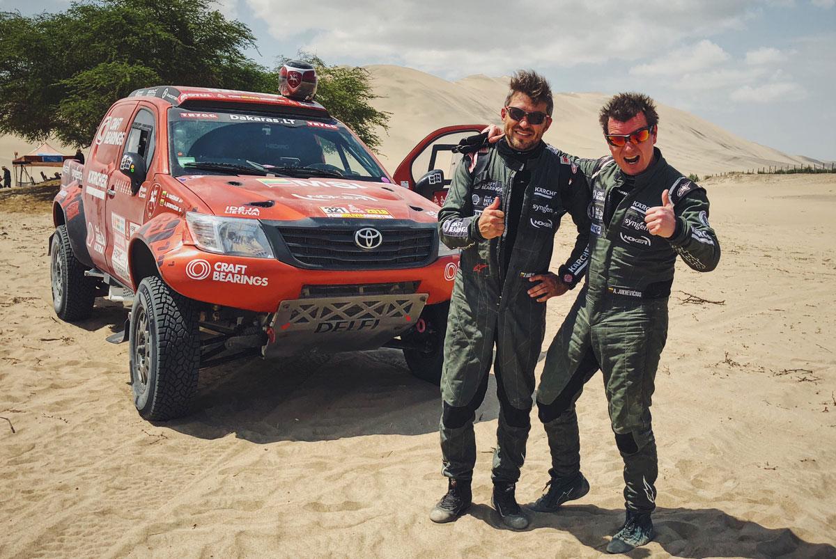 Antanas Juknevičius ir Darius Vaičiulis. Trečio Dakaro etapo finišas
