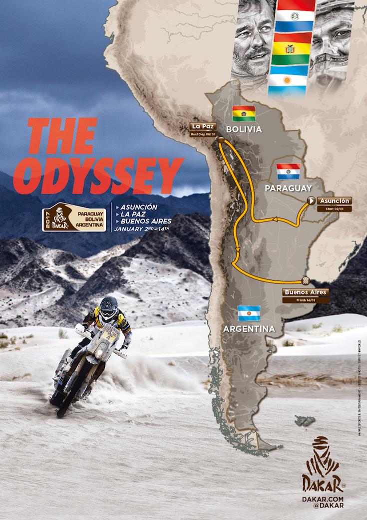 2017-ųjų Dakaro maršrutas: Paragvajus, Bolivija, Argentina