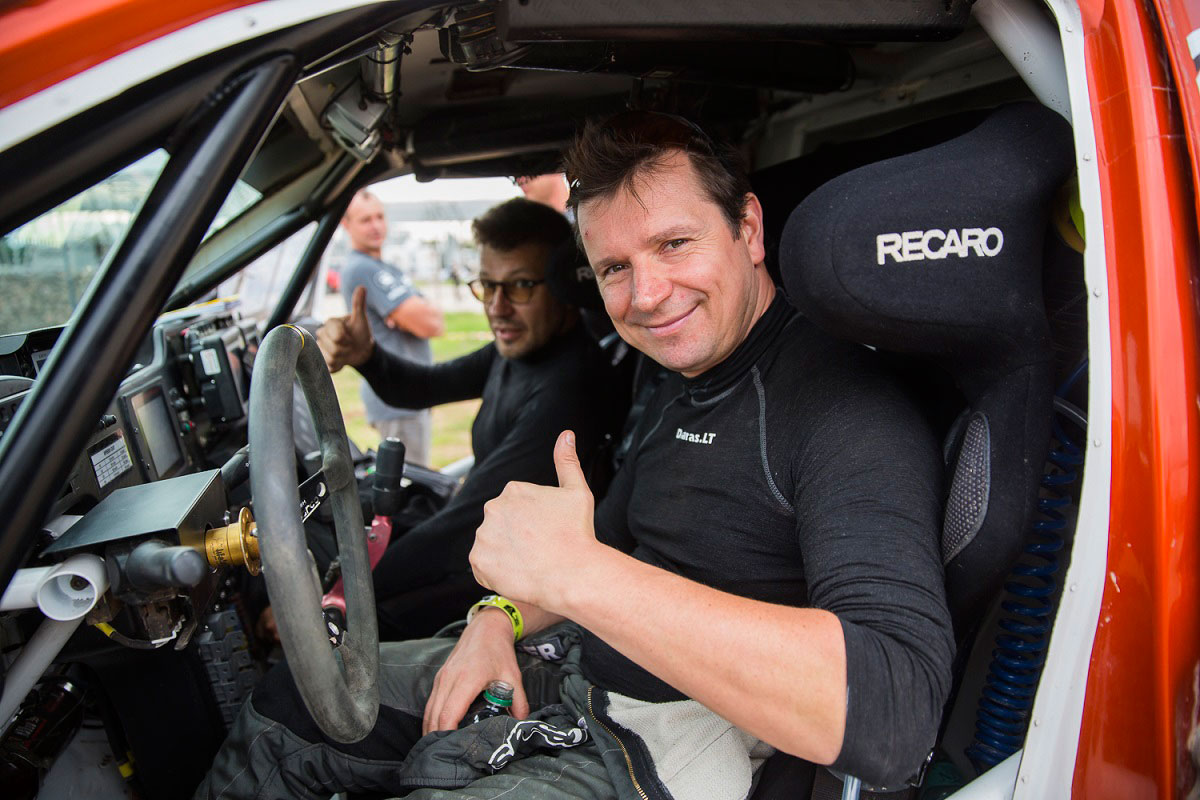A. Juknevičius ir D. Vaičiulis po 10-to Dakaro ralio etapo