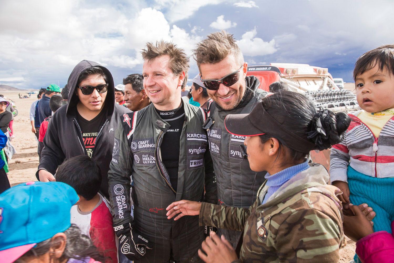 Antanas Juknevičius ir Darius Vaičiulis aštuntame Dakaro ralio etape