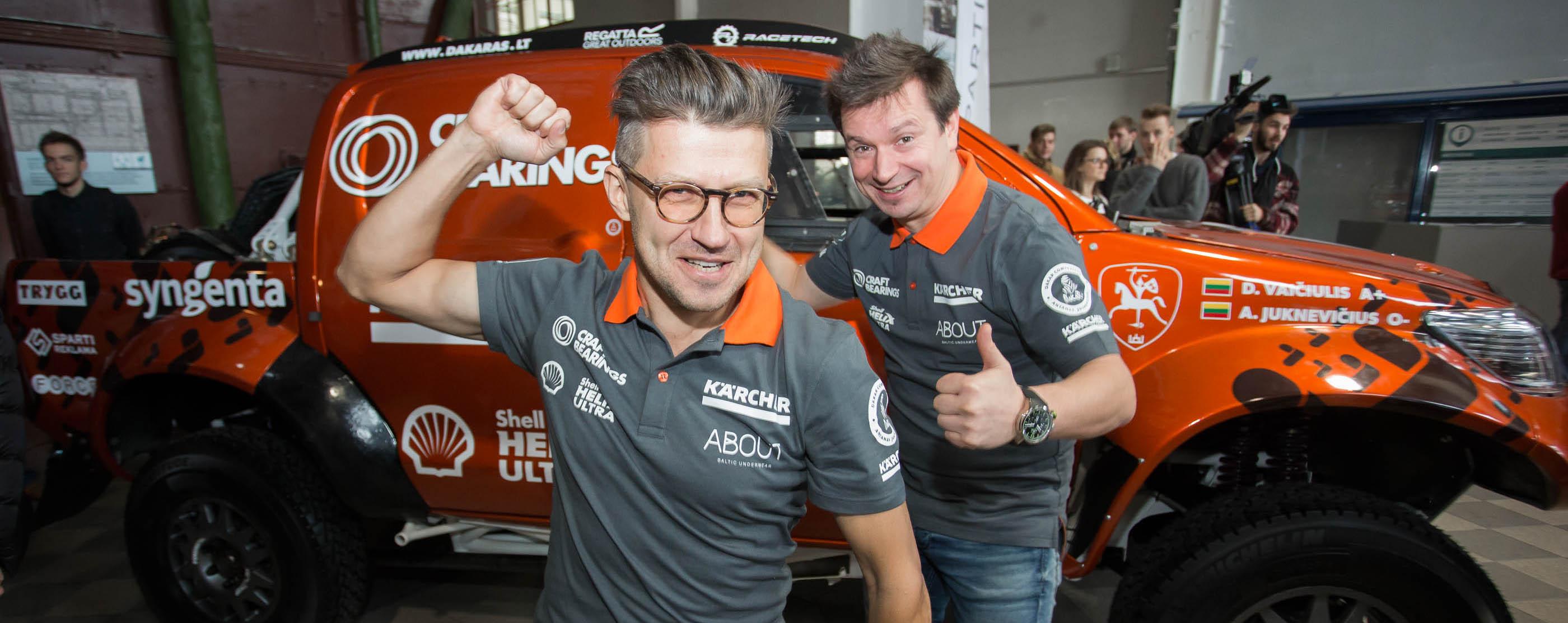 Oficialiai pristatyta Antano Juknevičiaus komanda ir Dakaro automobilis