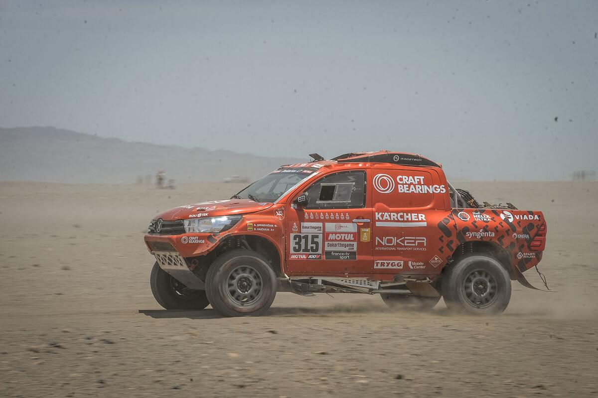 Sunkiausiose Dakaro kopose Antanas Juknevičius grįžo į TOP-20