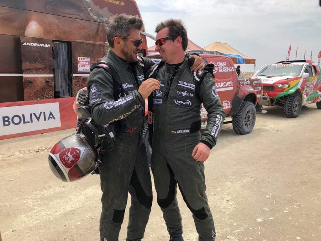 Avarijų perpildytame Dakaro ralio etape A. Juknevičius įšoko į TOP-20