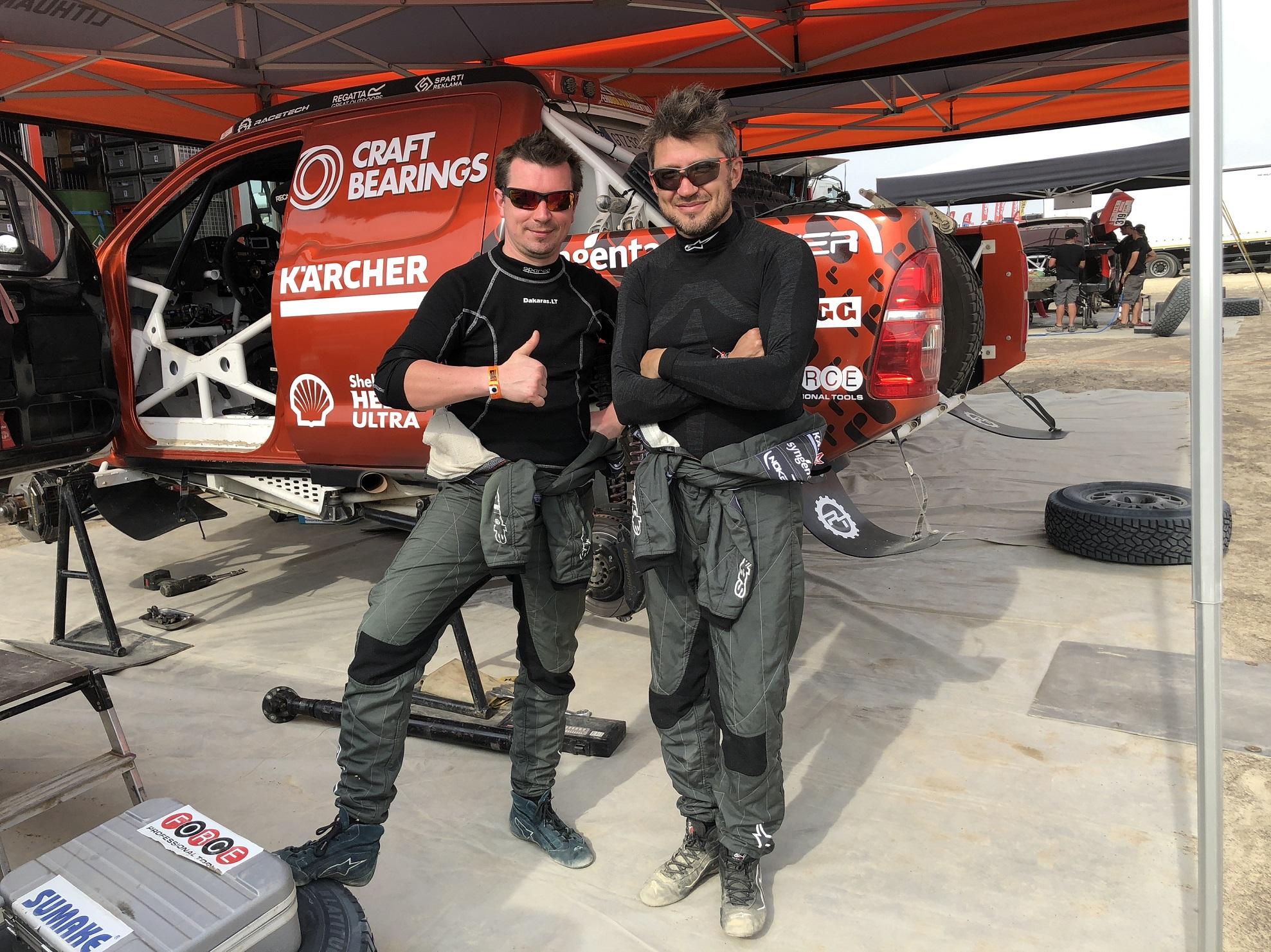 Pirmas Dakaro etapas pažėrė siurprizų, bėdų neišvengė ir Antanas Juknevičius