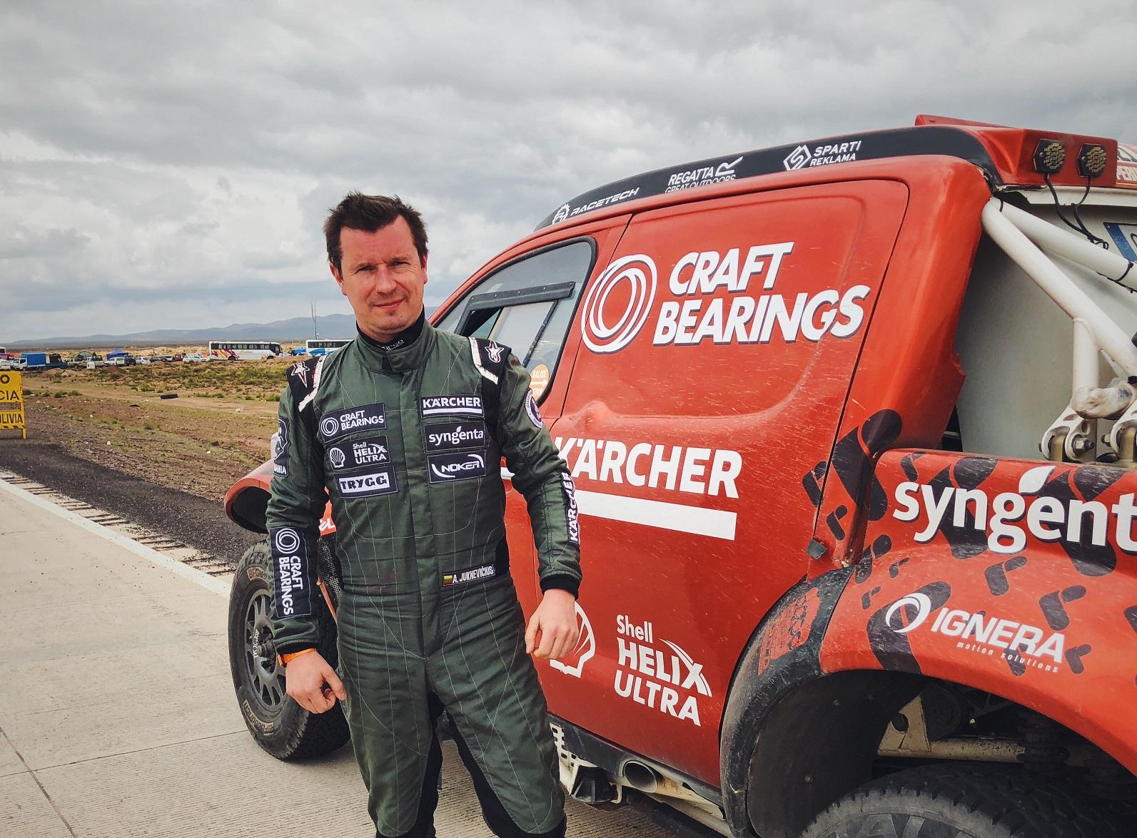 Lyderius išguldžiusiame Dakaro etape Antanas Juknevičius – 16-as