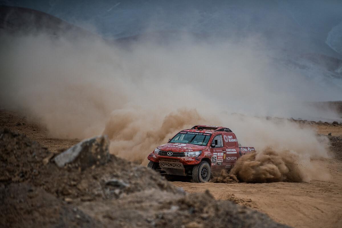 Antanas Juknevičius maratoninės dienos finiše: rodau Dariui tikrąjį Dakarą