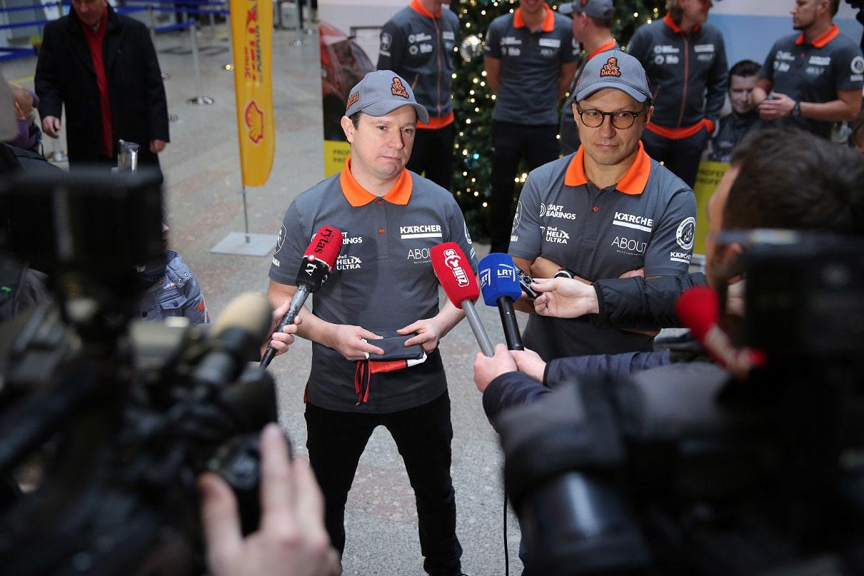 Dakaro vilkas Antanas Juknevičius išlydėtas į sunkiausias pasaulio lenktynes