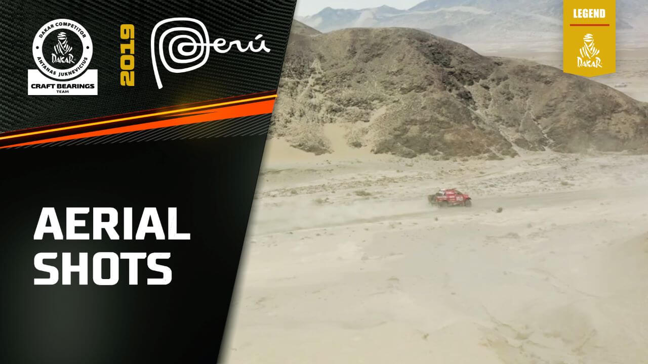 Dakar Rally 2019. Antanas Juknevicius Aerial Footage Highlights