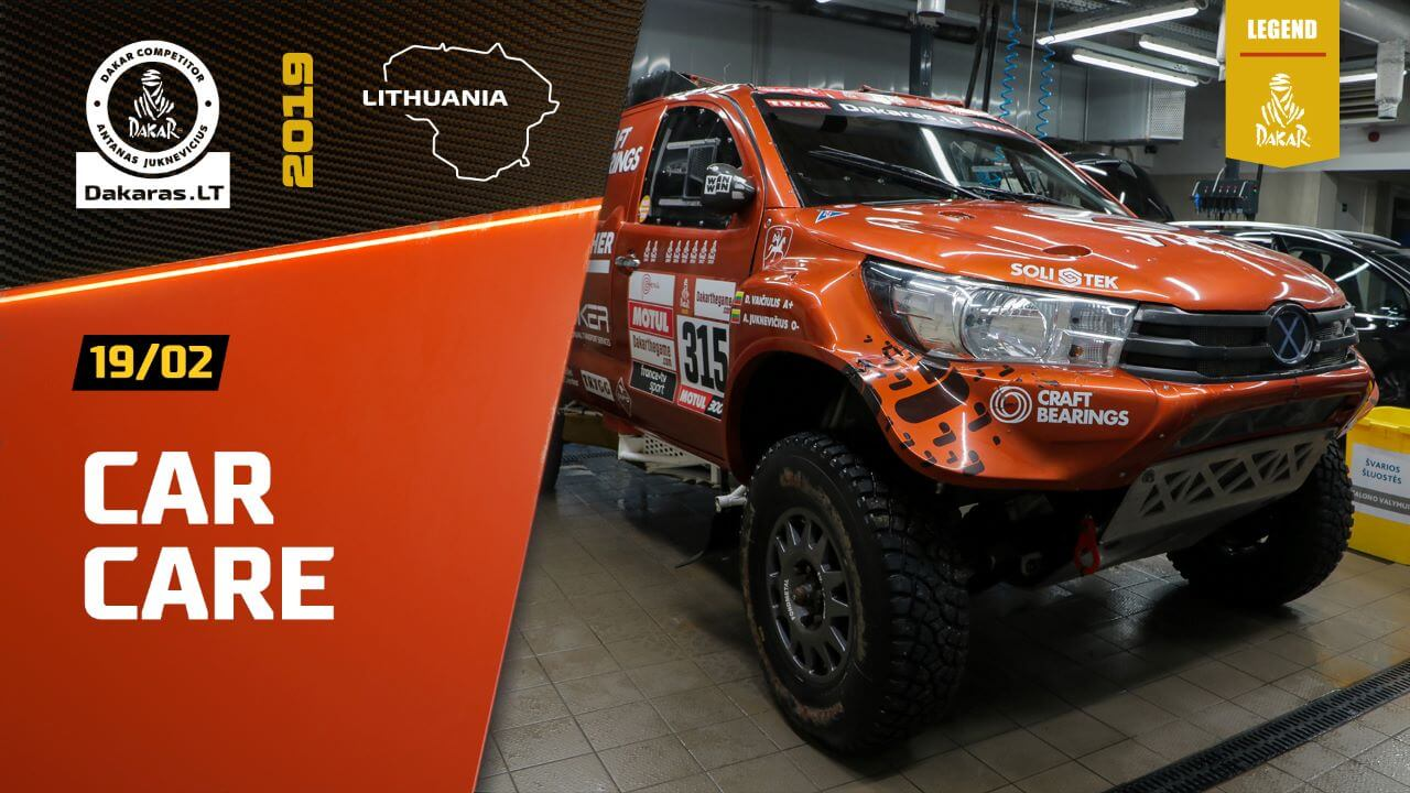 Dakar Rally 2019. Antanas Juknevicius Car Cleaning After the Race