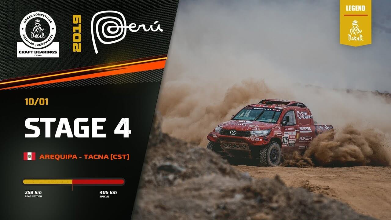 Dakar Rally 2019. Antanas Juknevicius Marathon Stage 4 Highlights