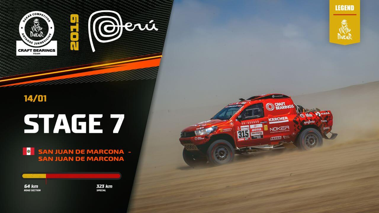 Dakar Rally 2019. Antanas Juknevicius Stage 7 Highlights