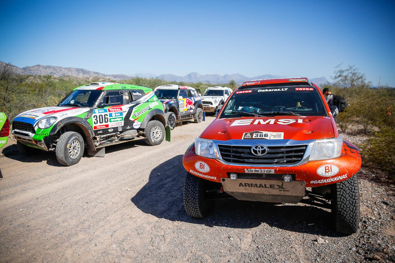 Po permainingo 11-ojo Dakaro etapo A. Juknevičius rankų nenuleidžia