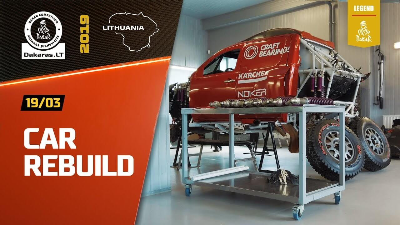 Road to Dakar Rally 2020. Antanas Juknevicius Dakar Car Rebuild
