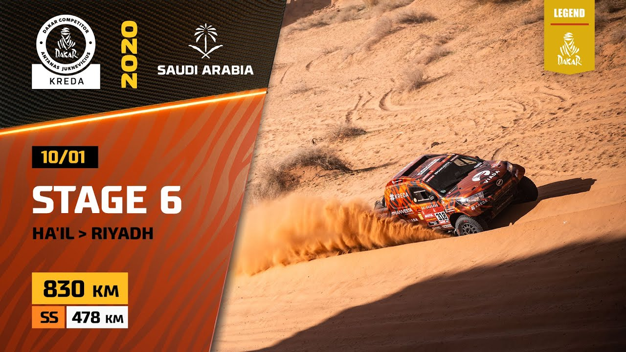Dakar Rally 2020. Stage 6 Highlights Ha'il – Riyahd Saudi Arabia