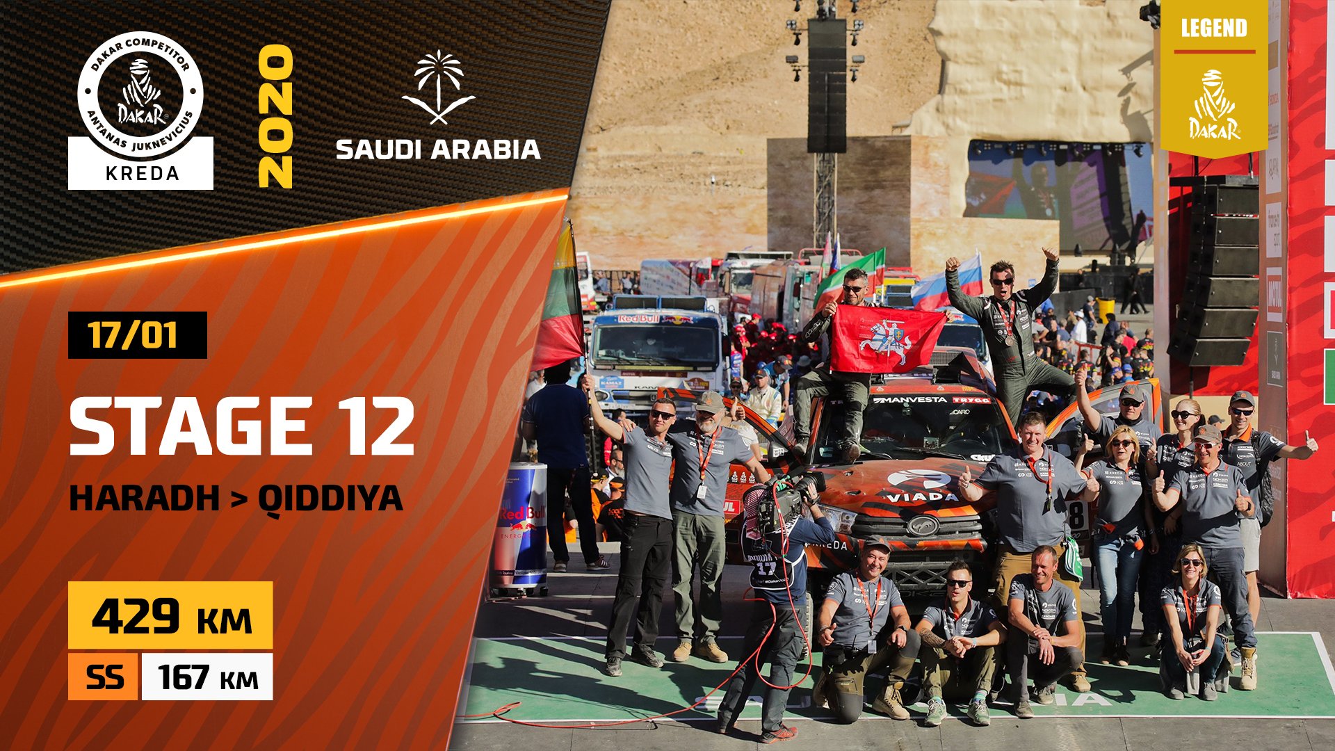 Dakar Rally 2020. Stage 12 Highlights Haradh – Qiddiya and Podium in Saudi Arabia