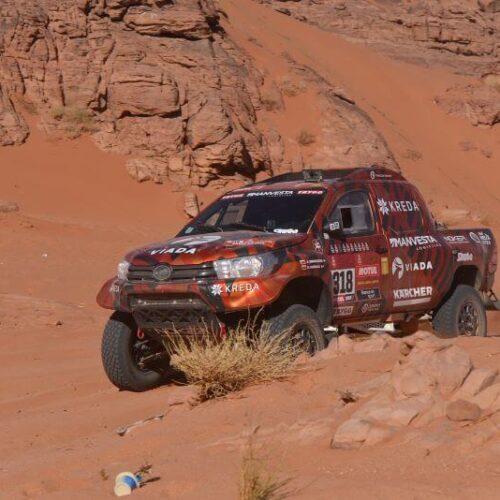 A. Juknevičius po trečiojo Dakaro etapo: daug rizikavome