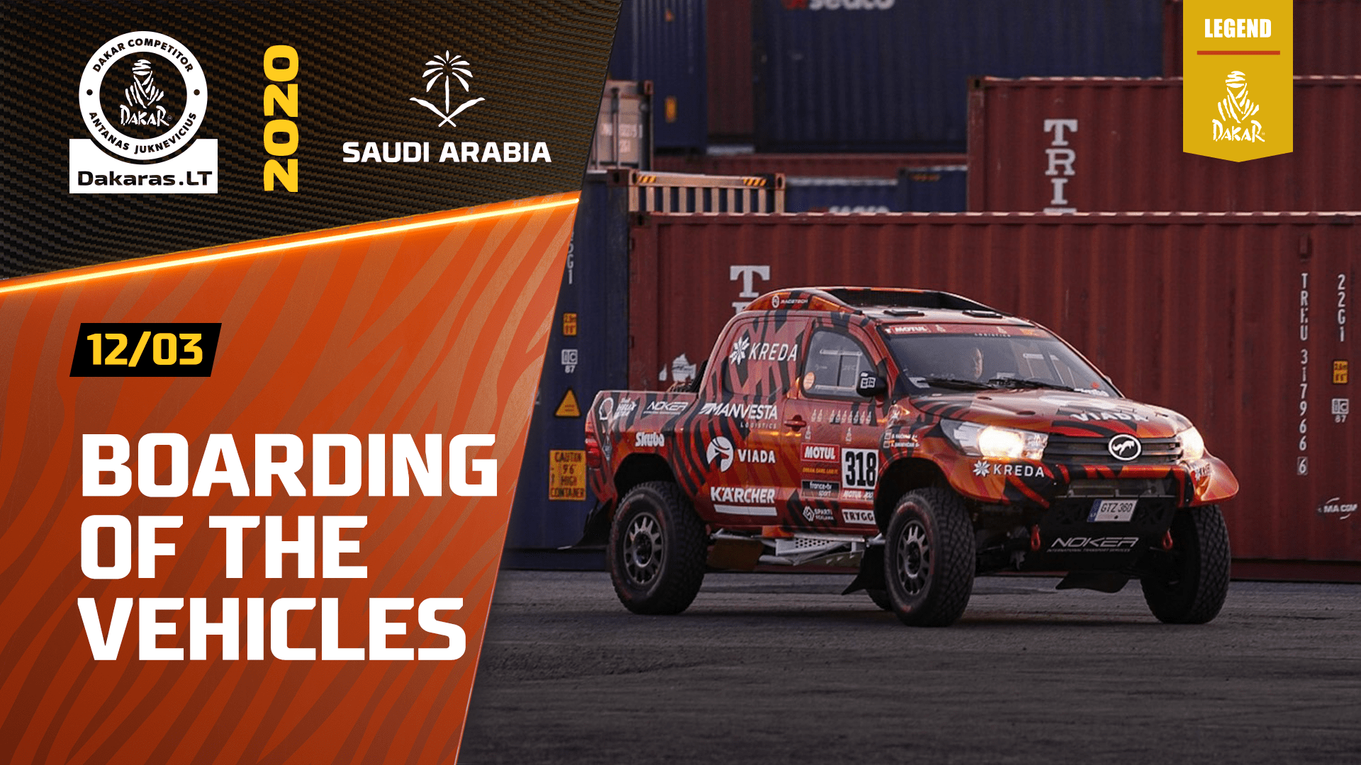 Dakar Rally 2020. Scrutineering and Vehicle Boarding in Marseille