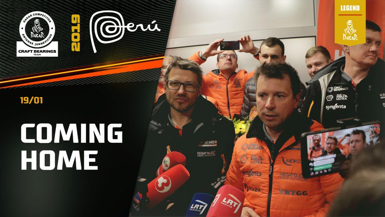 Dakar Rally 2019. Antanas Juknevicius Coming Home to Lithuania