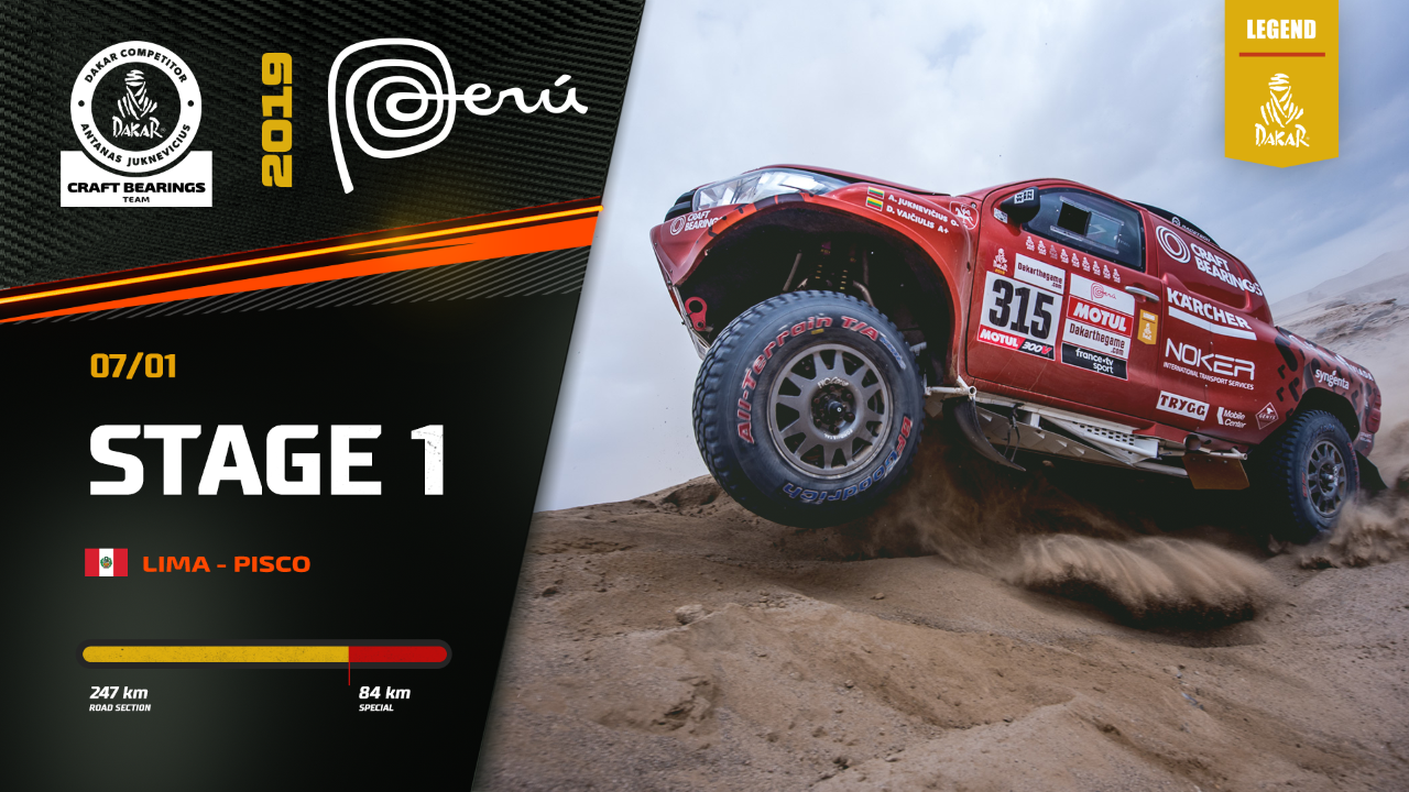 Dakar Rally 2019. Antanas Juknevicius Stage 1 Highlights