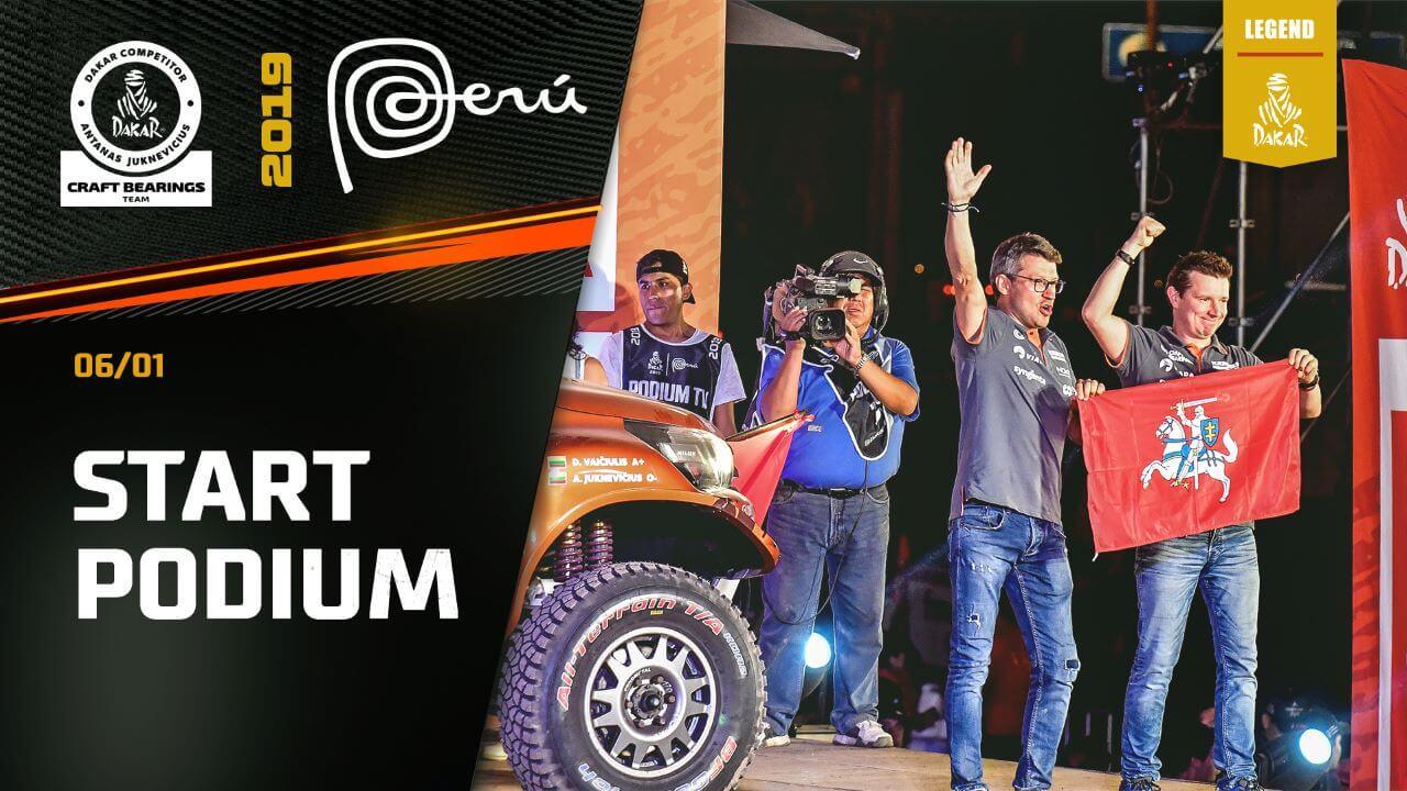 Dakar Rally 2019. Start Podium