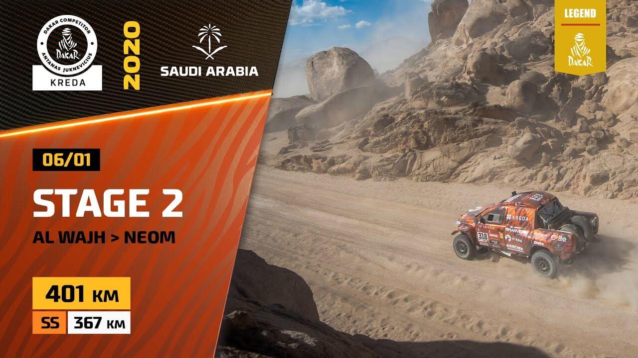 Dakar Rally 2020. Stage 2 Highlights Al Wajh – Neom