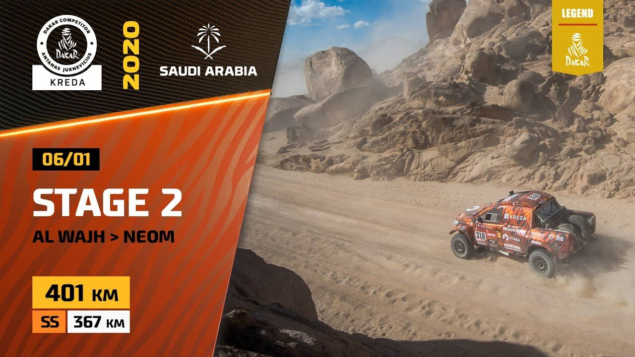 Dakar Rally 2020. Stage 2 Highlights Al Wajh – Neom