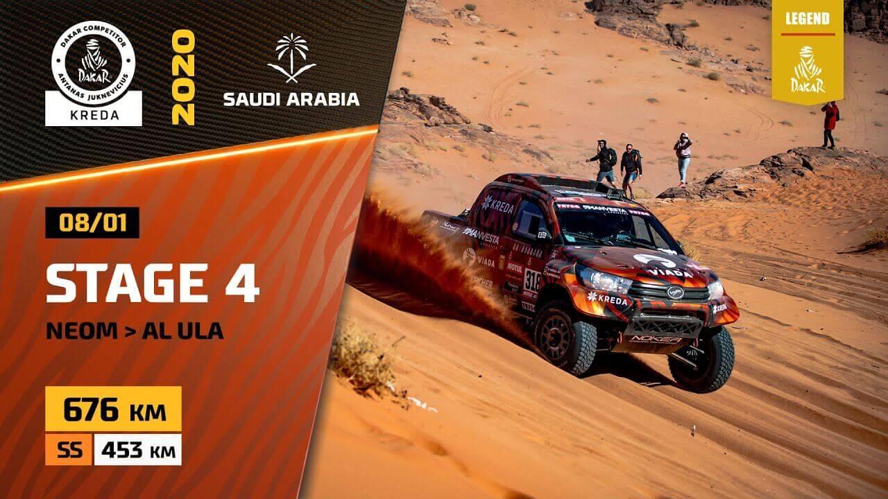 Dakar rally 2020. Stage 4 Highlights Neom - Al Ula