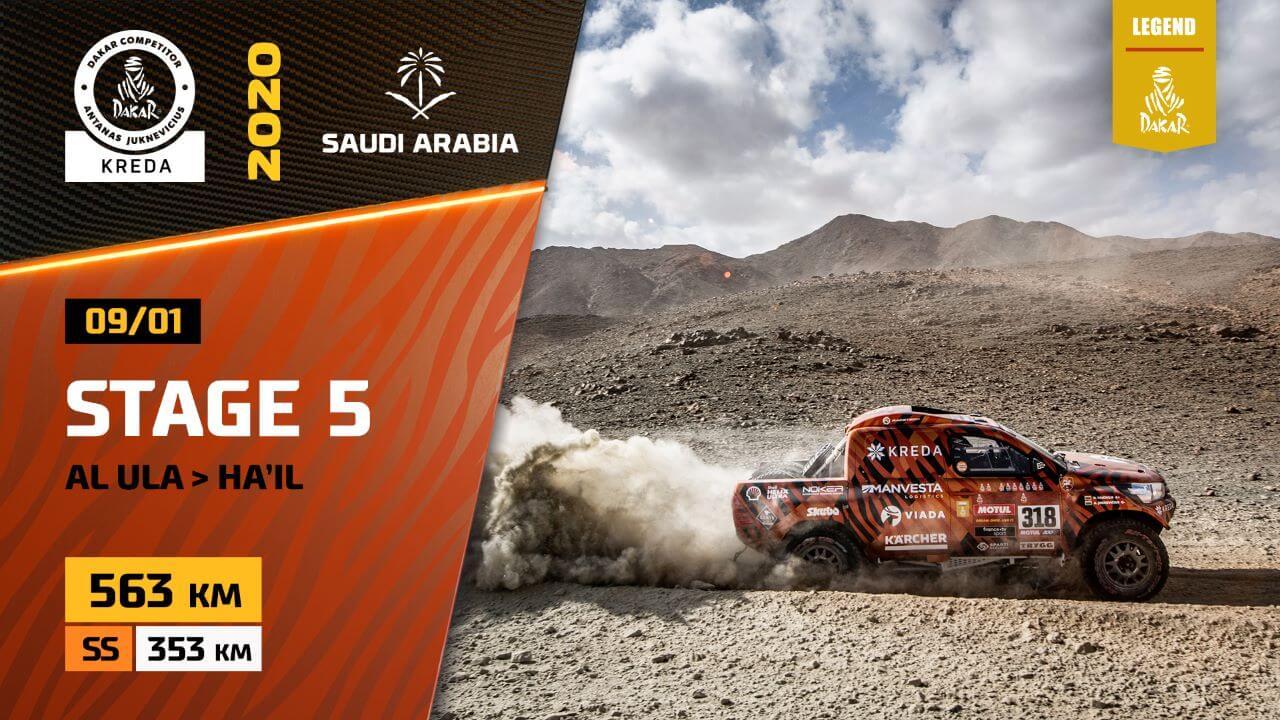 Dakar Rally 2020. Stage 5 Highlights Al Ula – Ha'il Saudi Arabia