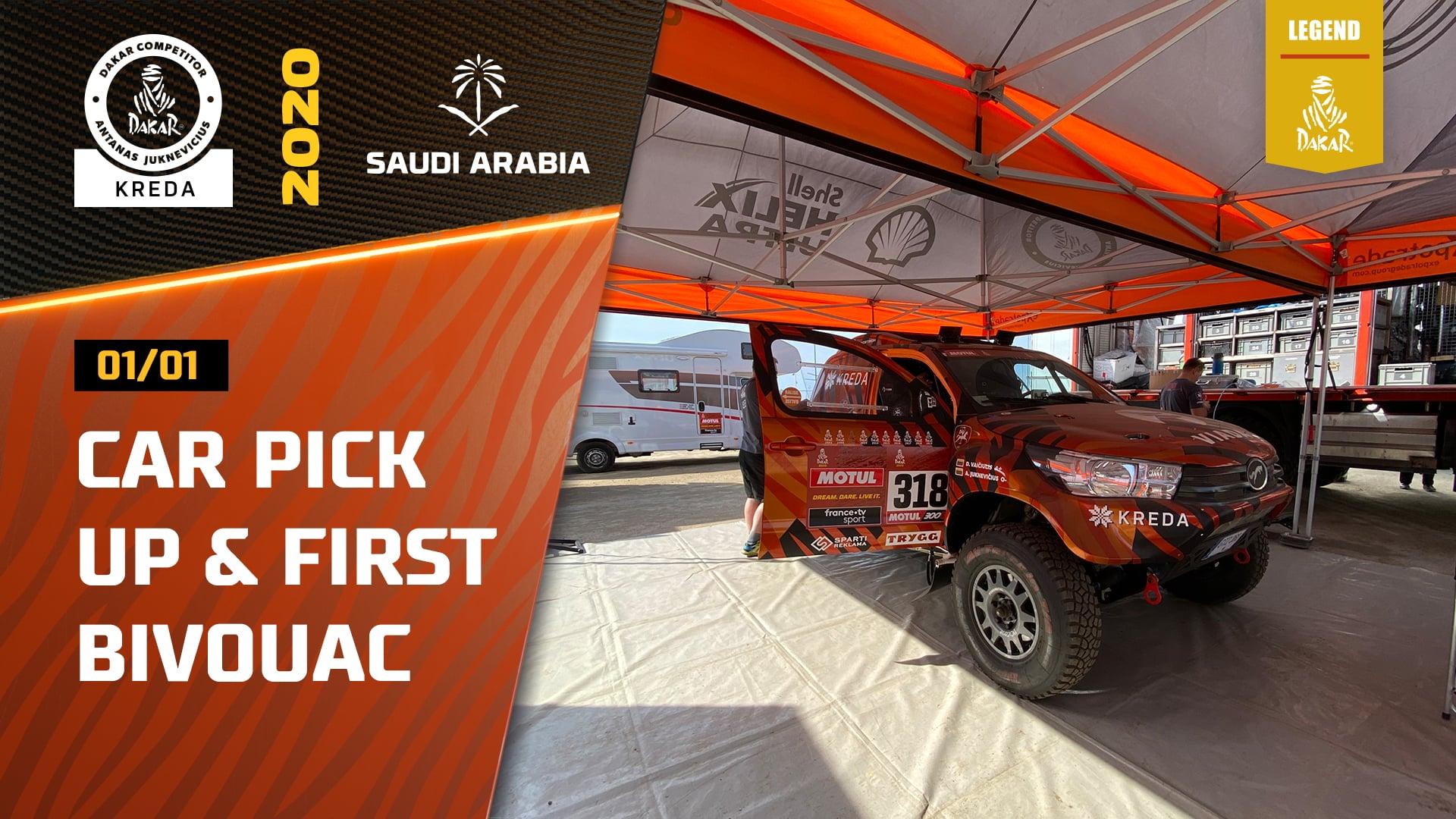 Dakar Rally 2020. Picking up Dakar Cars in Jeddah, First Bivuoac