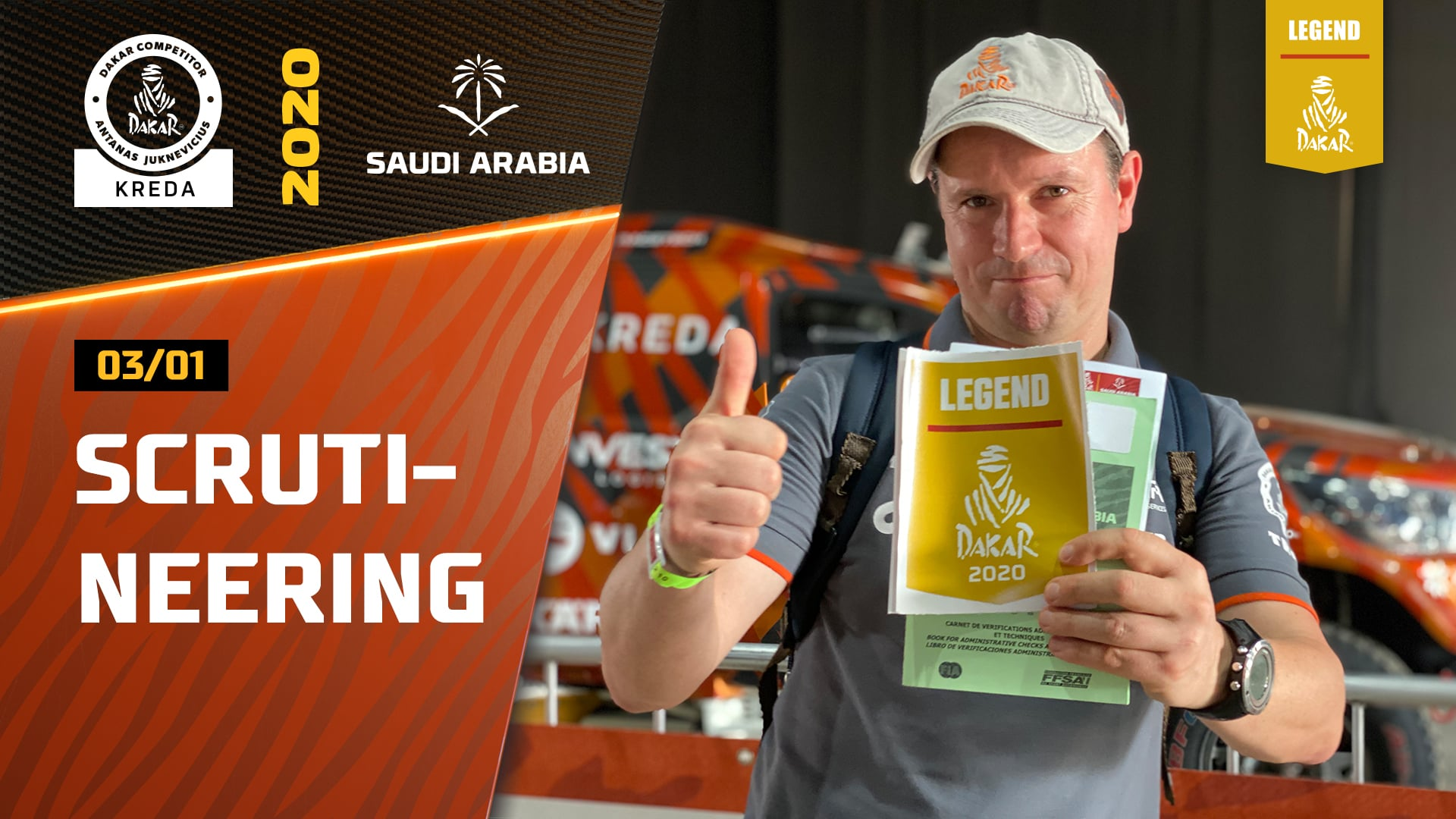Dakar rally 2020. Scrutineering & Administrative Checks, Dakar Legend Sticker