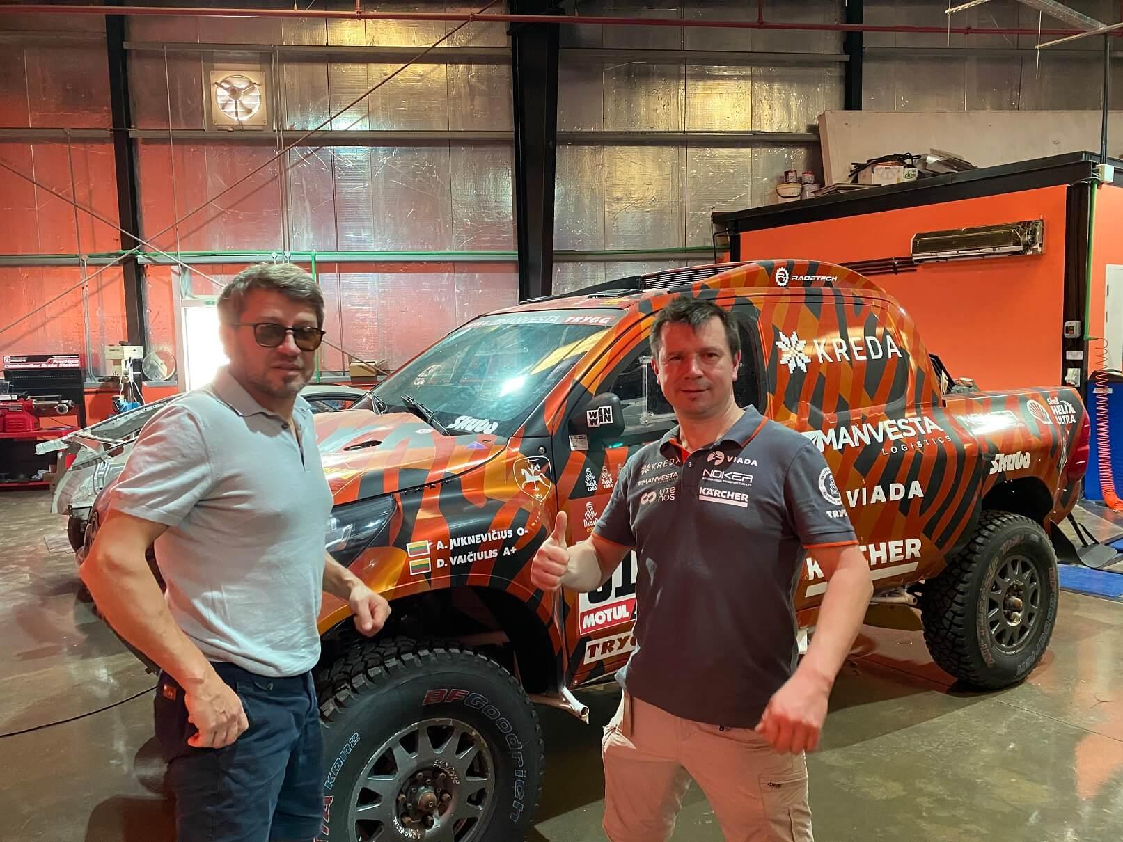 """""""KREDA"""" komanda išvyko ruoštis 2021-ųjų Dakarui"""