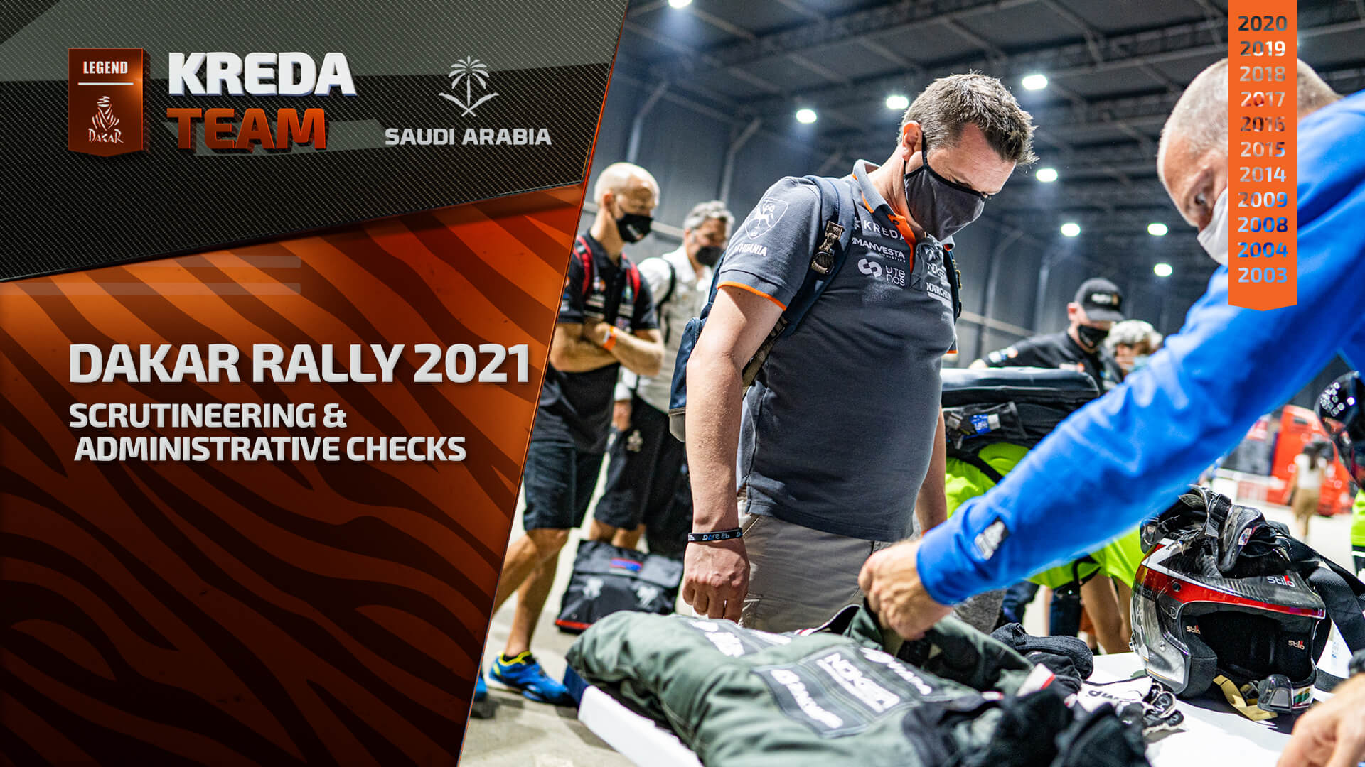 Dakar rally 2021. Scrutineering & Administrative Checks